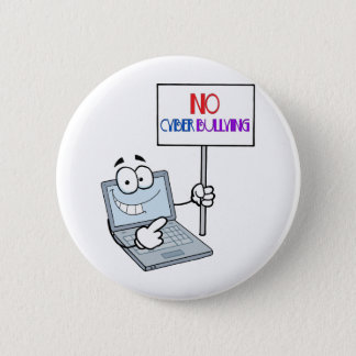 No Cyber Bullying Computer Pinback Button