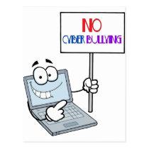 No Cyber Bullying Computer Postcard