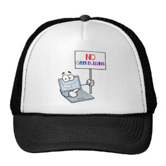No Cyber Bullying Computer Trucker Hat