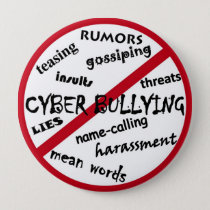 No Cyber Bullying, harassment, threats, etc Button