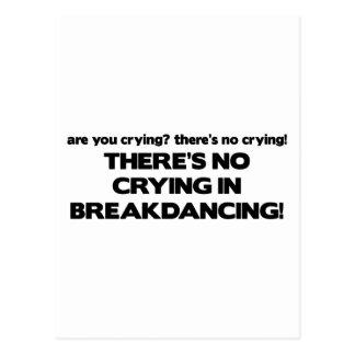 No Cyring - Breakdancing Postcard