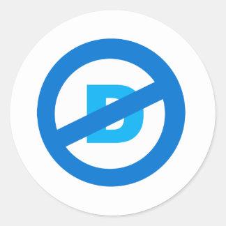 No D! Classic Round Sticker