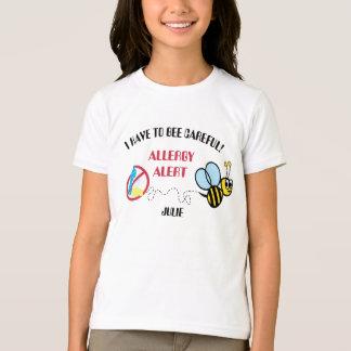 No Dairy Bumblebee Allergy Alert T-Shirt