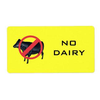 No Dairy Label