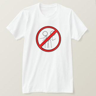 No Dancing Sign-Red/Black T-Shirt