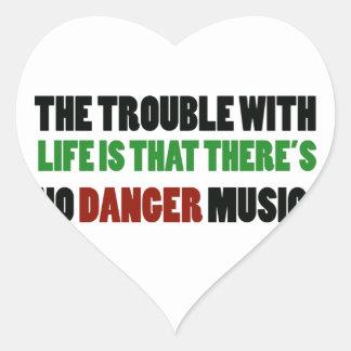 No Danger music Heart Sticker