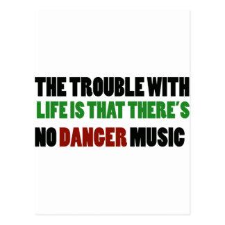 No Danger music Postcard