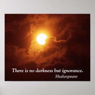No darkness but ignorance - Art Print