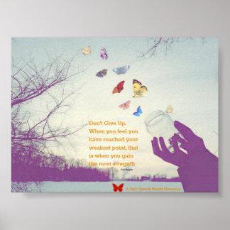 No dé para arriba el poster de la mariposa póster