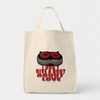 no dé un búho del amor del combate del pitido bolsa tela para la compra