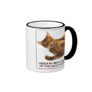 No Declaw Kitty Ringer Mug