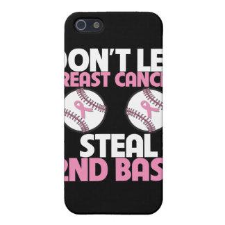 No deje al cáncer de pecho robar la 2da base iPhone 5 cárcasas