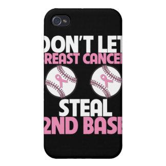 No deje al cáncer de pecho robar la 2da base iPhone 4 funda