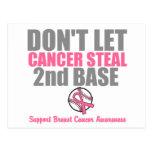 No deje al cáncer robar en segundo lugar la 2da ba tarjeta postal