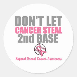 No deje al cáncer robar en segundo lugar la 2da pegatina redonda