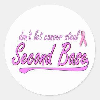no deje el cáncer robar 2do pegatina redonda