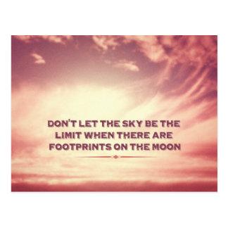No deje el cielo ser el límite… postal