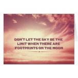 No deje el cielo ser el límite… tarjetón