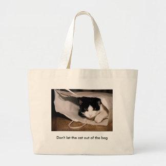 No deje el gato fuera del bolso bolsa de mano