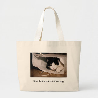 No deje el gato fuera del bolso bolsa tela grande