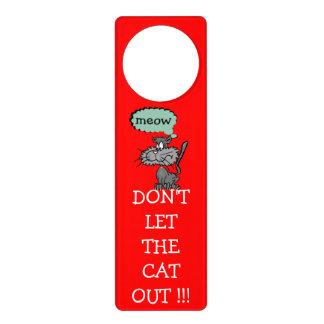 ¡No deje el gato hacia fuera! - Colgadores Para Puertas