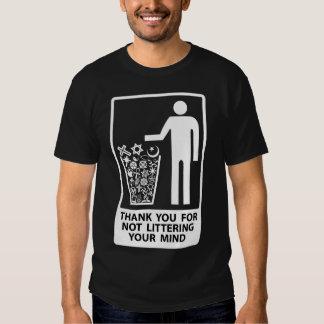 No deje en desorden su mente - telas oscuras camisas