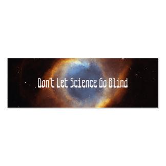 No deje la ciencia ir las persianas - ahorre JWST Tarjetas De Visita Mini