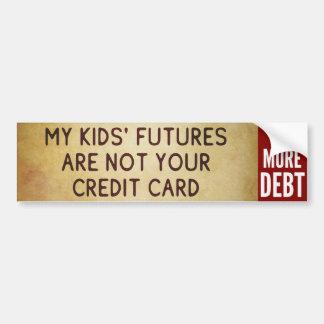 No deje la deuda en mis niños - no más de pegatina etiqueta de parachoque