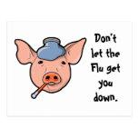 No deje la gripe conseguirle abajo - la postal