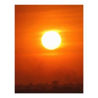No deje la salida del sol membretes personalizados