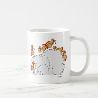 No deje los pavos conseguirle abajo taza básica blanca