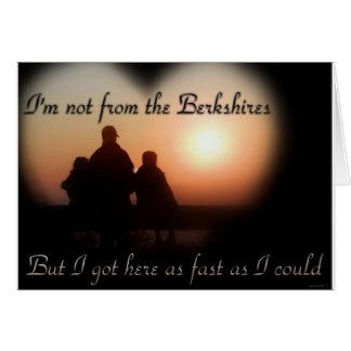 No del Berkshires Tarjeta De Felicitación