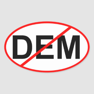 No DEM Oval Sticker