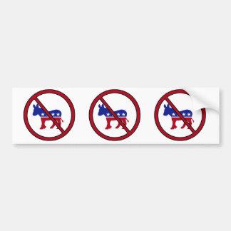 No Democrats Bumper Sticker Car Bumper Sticker