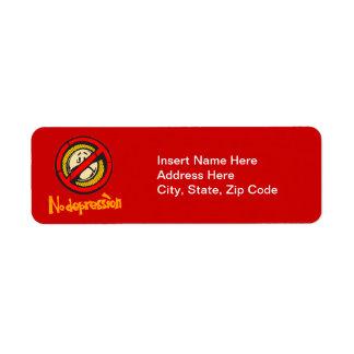 No Depression Return Address Label