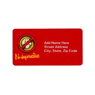 No Depression Address Label