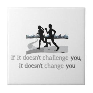 No desafía no cambia inspirado azulejo cuadrado pequeño
