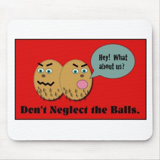 No descuide las bolas alfombrilla de ratones