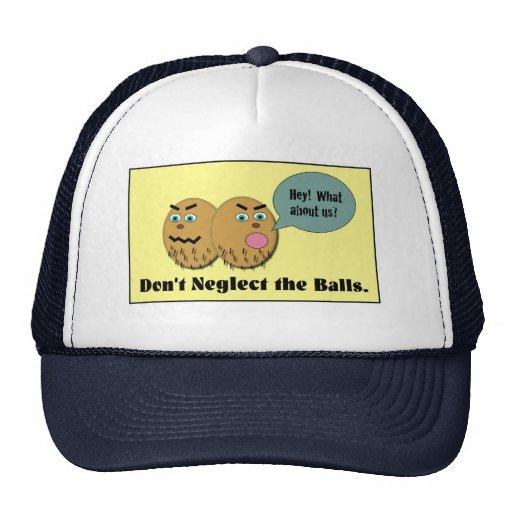 No descuide las bolas gorras de camionero