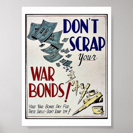 No deseche los enlaces de guerra impresiones