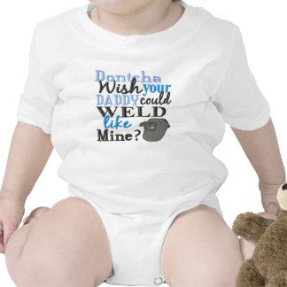 No desee que su papá podría soldar con autógena trajes de bebé