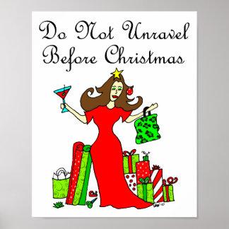 No desenrede antes del navidad - reina del navidad poster