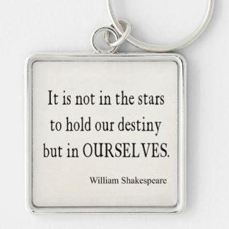 No destino pero nosotros mismos de las estrellas c llavero cuadrado plateado