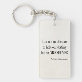 No destino pero nosotros mismos de las estrellas c llavero rectangular acrílico a una cara