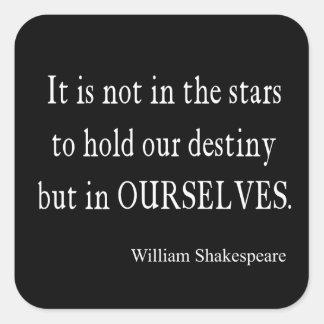 No destino pero nosotros mismos de las estrellas c calcomanias cuadradas