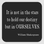 No destino pero nosotros mismos de las estrellas calcomanía cuadradase