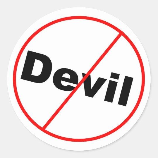 No devil allowed Christian Classic Round Sticker