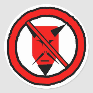 No Devil Classic Round Sticker