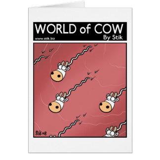 No dialogue cow sperm card