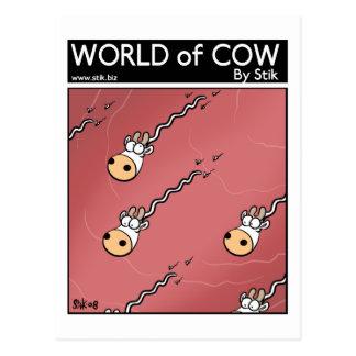 No dialogue cow sperm postcard